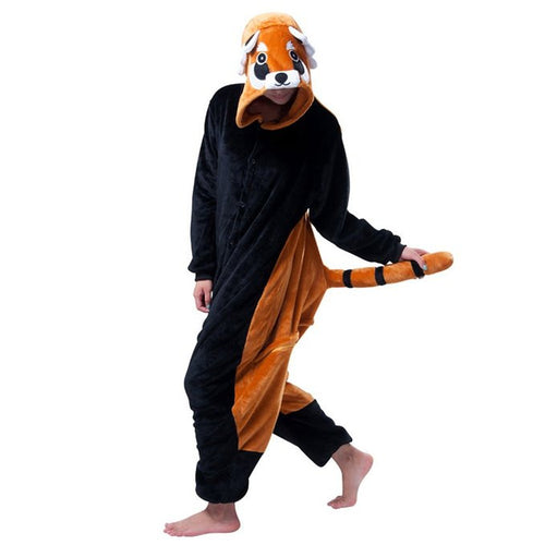 Raccoon Pajamas Halloween Costume Cosplay Homewear Lounge Wear
