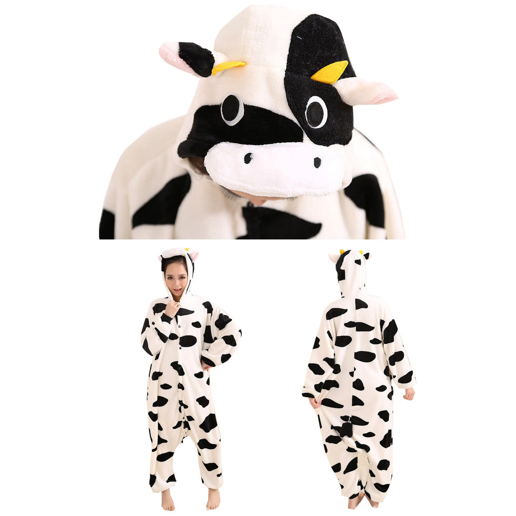 Cow Cartoon Pajamas Halloween Costume Cosplay Homewear Lounge Wear