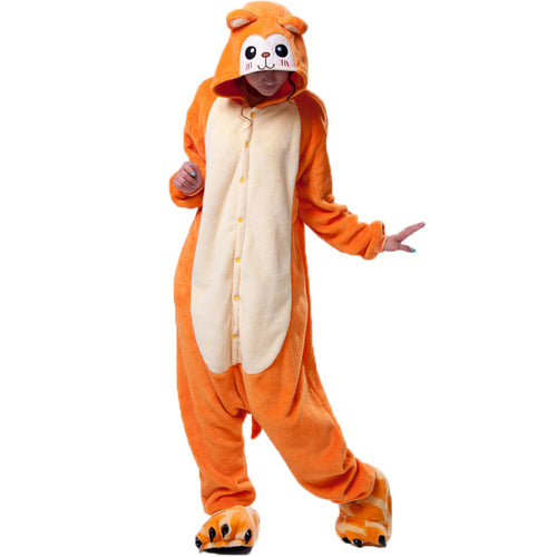 Golden Monkey Cartoon Pajamas Halloween Costume Cosplay Homewear Lounge Wear