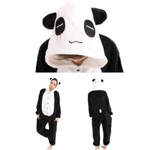 Panda Pajamas Halloween Costume Cosplay Homewear Lounge Wear