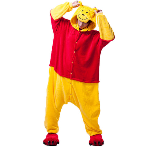 Winnie the Pooh Cartoon Pajamas Halloween Costume Cosplay Homewear Lounge Wear