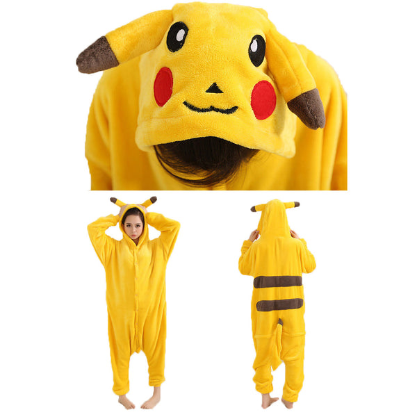 Pikachu Pajamas Halloween Costume Cosplay Homewear Lounge Wear