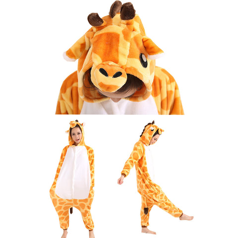 Deer Cartoon Pajamas Halloween Costume Cosplay Homewear Lounge Wear