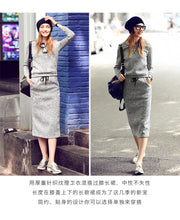 Load image into Gallery viewer, 2 Pcs Sports Set Hoodie + Skirt
