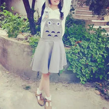 Load image into Gallery viewer, Kawaii Totoro Suspender Skirt