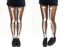 Load image into Gallery viewer, Halloween Skeleton Print Stockings