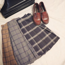 Load image into Gallery viewer, Preppy Plaid Pleated Skirt