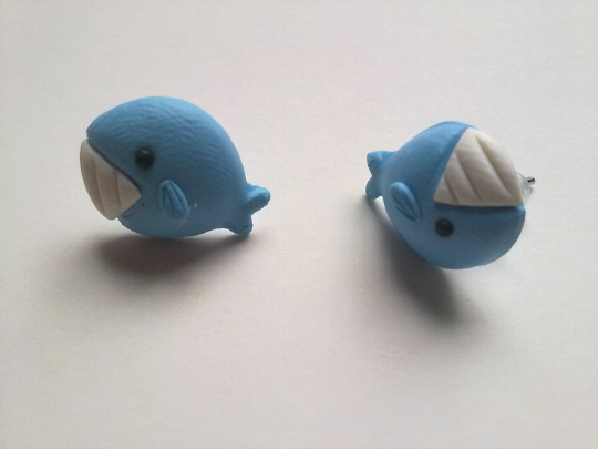 Lovely Handmade Whale Earrings