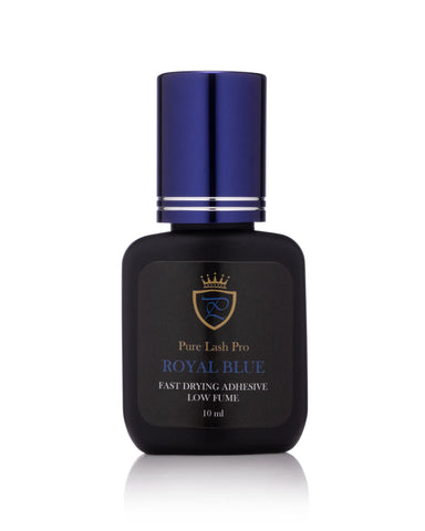 Low Fume Fastest Drying Royal Blue Glue for Volume Extensions, Dries Black