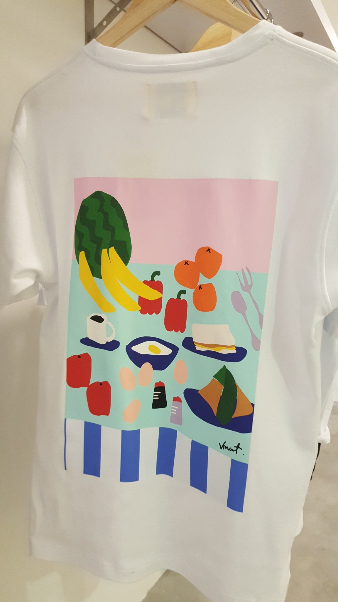 Leif Breakfast CutOut Printed Tee