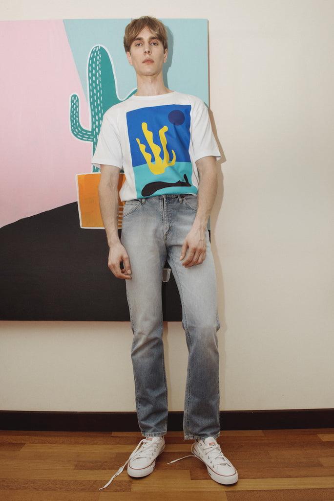 Leif Astract CutOut Printed Tee