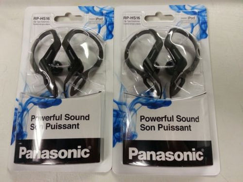 Panasonic Ear-clip Headphones, Black, 2 Pack - RP-HS16