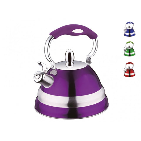 Peterhof 2.7 Liter Stainless Steel Whistling Kettle, Purple - PH15580