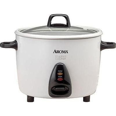Aroma 20-Cup (Cooked) Rice Cooker & Food Steamer White ARC-730G