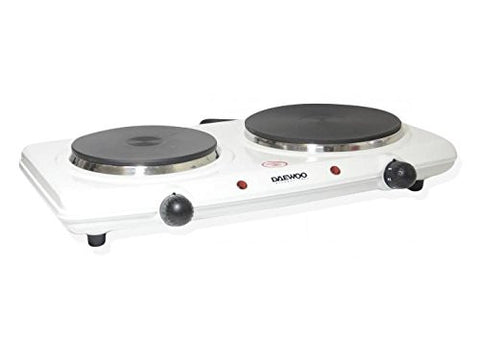 Daewoo Portable Double Burner, White, 220V - DI9305 (NOT FOR USA)