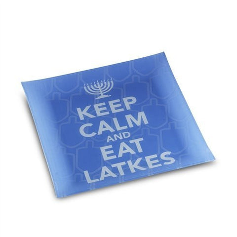 Chanukah Keep Calm Latke Platter