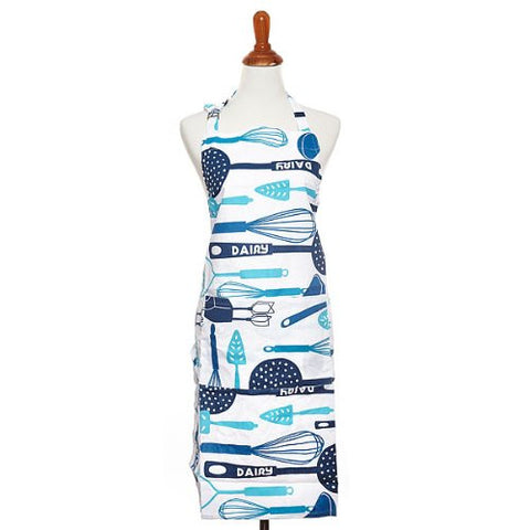 The Kosher Cook 1-Piece 100-Percent Cotton Full Apron, Blue - KCKH4017D