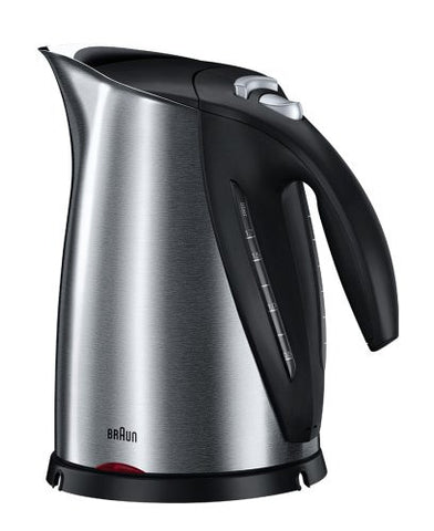 Braun 7-Cup Brushed Stainless Steel Electric Kettle, 220V - WK600 (NOT FOR USA)