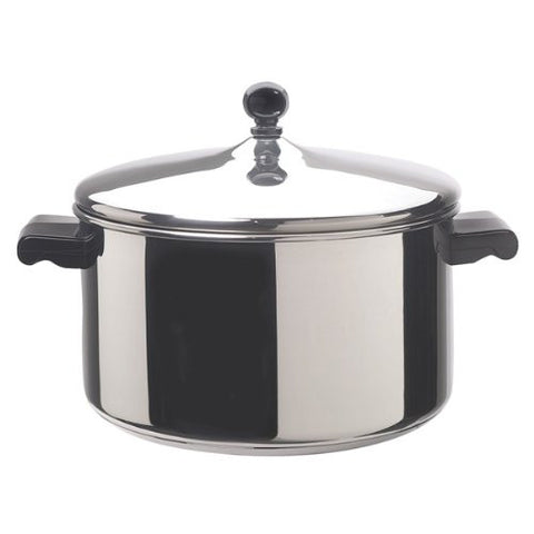 Farberware Classic Stainless Steel Covered Stockpot, 6-Quart - 50005