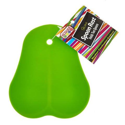 The Kosher Cook Silicone Spoon Rest for Pareve, Green - KCKH3019P