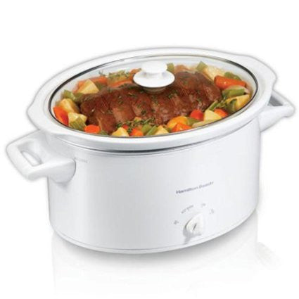 Hamilton Beach 8 Quart Slow Cooker, White - 33181