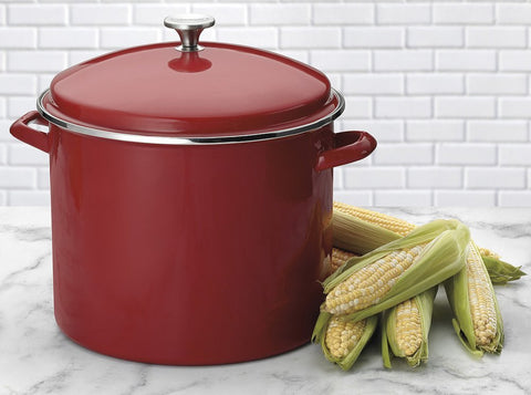 Cuisinart 16-Quart Enamel Stockpot with Cover, Red - EOS166-30R