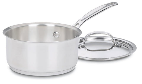 Cuisinart Chef's Classic Stainless 1-Quart Saucepan with Cover - 719-14