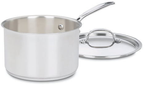 Cuisinart Chef's Classic Stainless 4-Quart Saucepan with Cover - 7194-20