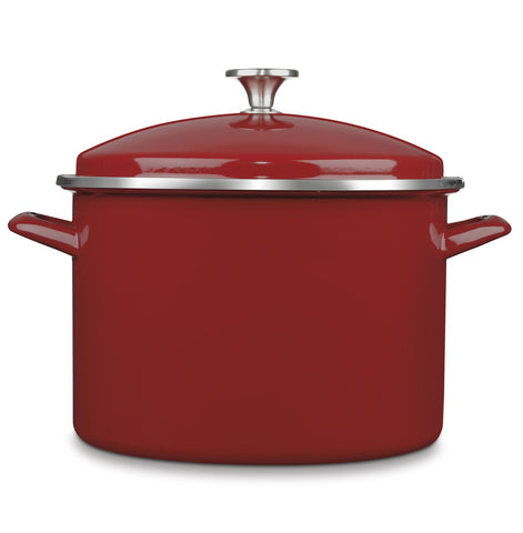 Cuisinart 10 Quart Enamel Stockpot with Cover, Red - EOS106-28R