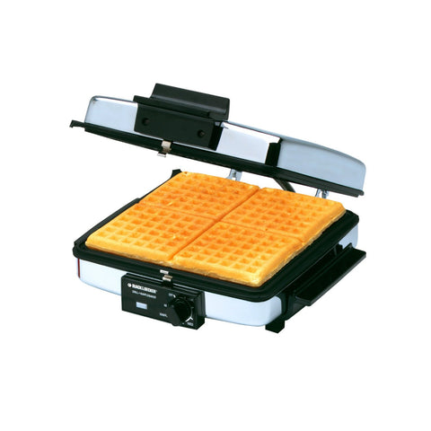 Black & Decker 3-in-1 Waffle Maker & Indoor Grill/Griddle, Silver - G49TD