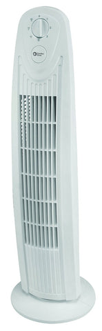 Comfort Zone 29 Inch Oscillating Tower Fan CZTF329WT