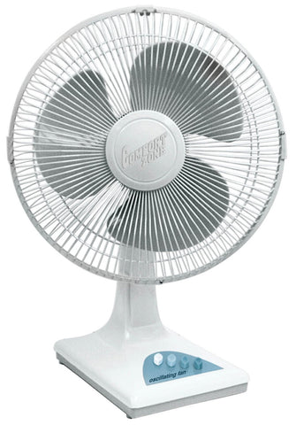 "Comfort Zone CZ121 12"" 3 Speed Oscillating Table Fan"