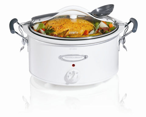 Hamilton Beach 6 Quart Stay or Go Crock Pot - 33163H