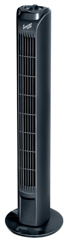 "Comfort Zone 31"" Oscillating Tower Fan, Black - CZTF1BK"