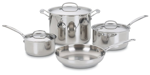 Cuisinart Chef's Classic Stainless 7-Piece Cookware Set - 77-7