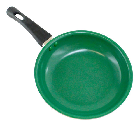 "Wee's Beyond 8"" Green Ceramic Fry Pan"