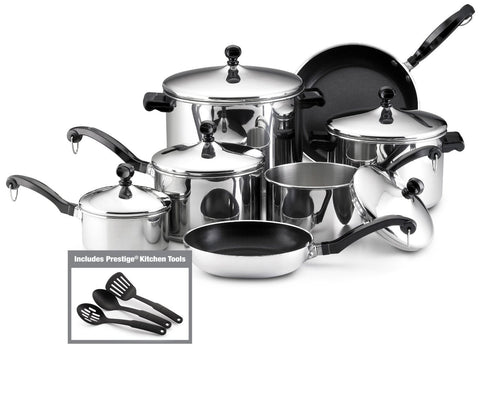 Farberware 15-Piece Stainless Steel Cookware Set - 50049