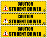 Student Driver Magnet, Safety Vehicle Magnet - Mutiple Variety 3 Pack