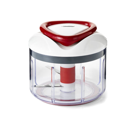 Zyliss Easy Pull Manual Food Processor and Chopper, Red - E910015U