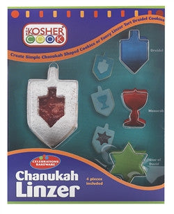Chanukah Linzer Cookie Cutter set 4 PCS