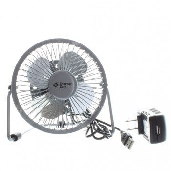 COMFORT ZONE DUAL POWERED HIGH VELOCITY FAN SILVER - 4 INCH CZHV4S