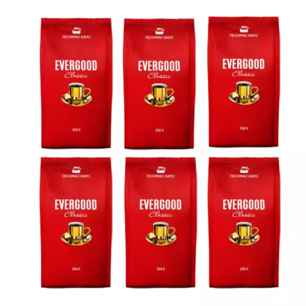 Evergood Kaffe 6x250g - Shoppamist