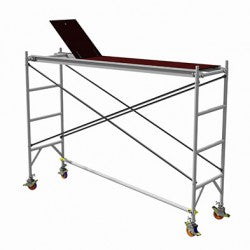 Single Width (0.8m) H Frame Platform with Steel Scissor Bracing