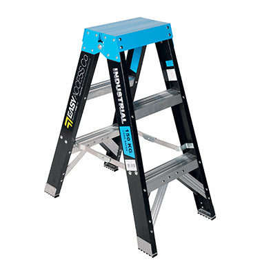 3 step ladder NZ. Fibreglass Double Sided Step Ladders (0.9m - 2.4m)
