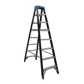 8 step ladder NZ. Fibreglass Double Sided Step Ladders (0.9m - 2.4m)