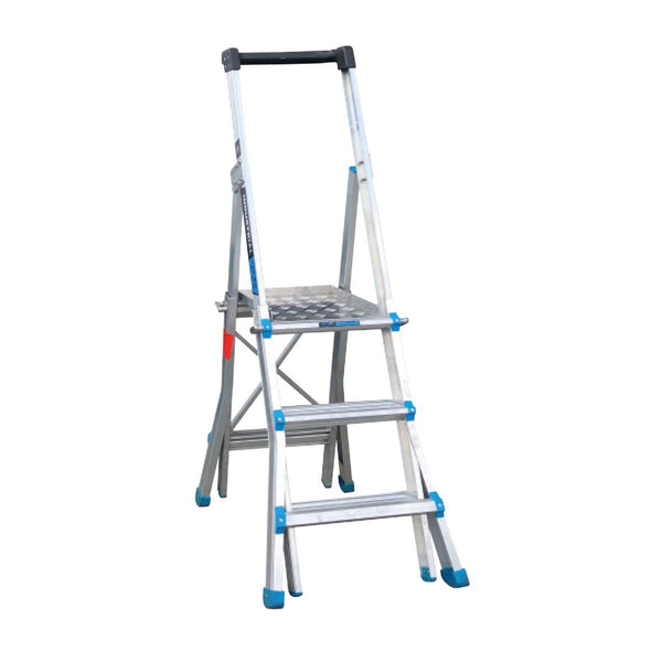 AdjustaStep Height Adjustable Platform Ladder with Work Platform