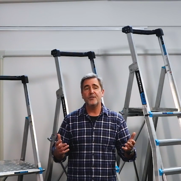 AdjustaStep Ladder plus Work Platform