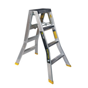 4 step ladder. Warthog Double Sided Step Ladders (0.9m - 2.7m) Standard Width