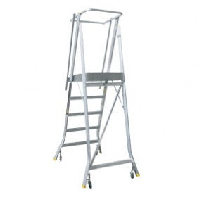 Folding Order Picker - Aluminium Wheeled Chassis - Spring Wheeled