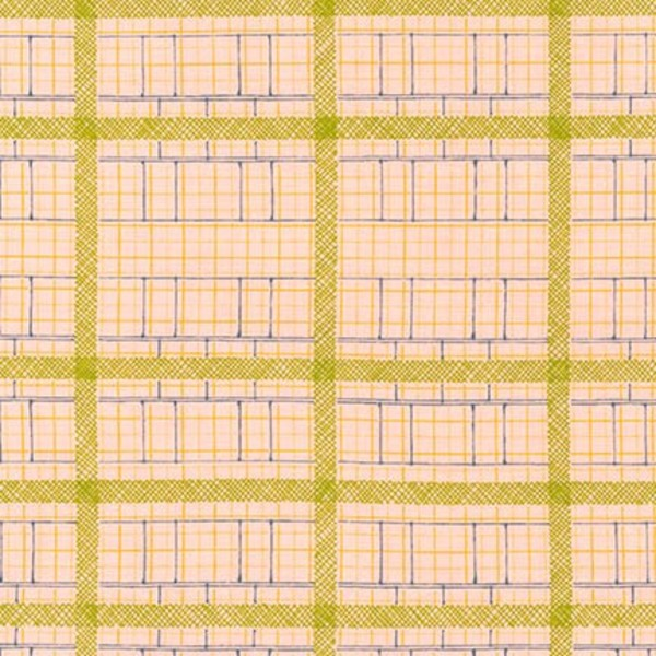 Friedlander, Elevation in Peach, per half-yard